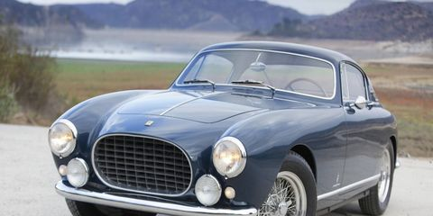 Bonhams will offer some interesting Ferraris this year, including this 1955 Ferrari 250 Europa GT Alloy coupe.