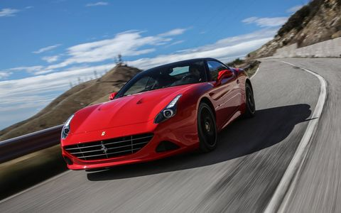 The HS stands for Handling Speciale, an $8120 performance option available on all future Ferrari California Ts starting in September.
