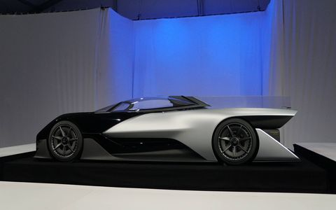Faraday Future revealed its first car, a concept called the FFZERO1. It's just one of many cars that can be made on what Faraday promises is a highly modular platform. Look for the first production car in two (or more) years.