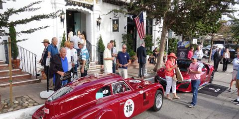 The Monterey auto week kicked off Tuesday with the Concours-on-the-Avenue in Carmel. This Cisitalia won best of show.