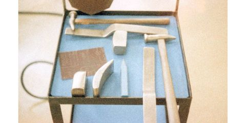 The body stampings of the Century are shaped by hand by veteran metalworkers using these custom-made fitted tools.