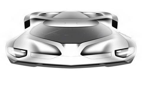 Early sketches, plans and ideas from Ford GT designers.