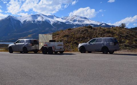 This mystery SUV was spotted in Independence Pass, Colorado.