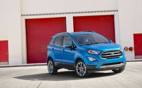 The new Ford EcoSport is unveiled at the 2016 LA Auto Show.