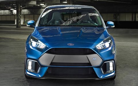 This is our first look at the 2016 Ford Focus RS, the Blue Oval's new all-wheel drive hot hatch powered by a 2.3-liter turbocharged inline-four. Unlike previous cars to wear the RS badge, this one will be sold in the United States.
