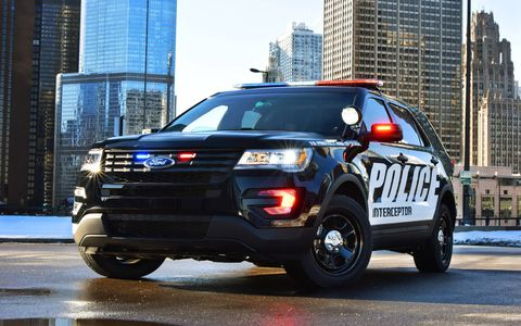 The 2016 Ford Police Interceptor utility vehicle debuted at the Chicago Auto Show.