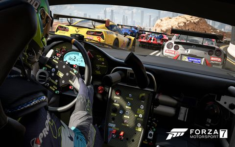 """""""Forza 7"""" from Turn 10 Studios features more than 700 cars, 32 racing environments and tons of difficulty and driver assist settings."""