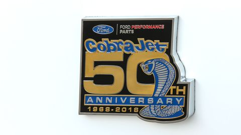 Ford introduced the new 50th Anniversary Cobra Jet at an event before the Woodward Dream Cruise.