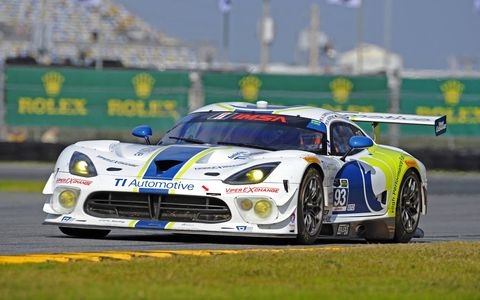 The winning No. 93 Viper V10 SRT GT3-R in GTD was driven by Al Carter, Ben Keating, Dominik Farnbacher, Kuno Wittmer and Cameron Lawrence.