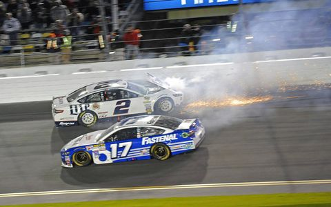 Action from Saturday night's NASCAR Sprint Unlimited race at Daytona International Speedway.