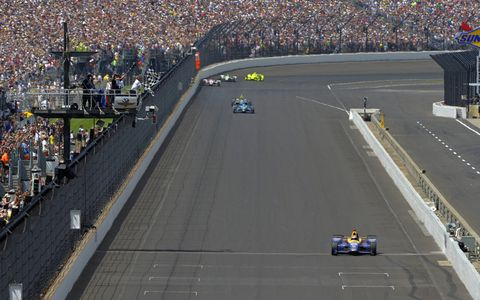 Rookie Rossi finds way to victory lane at the 100th running of the Indianapolis 500.