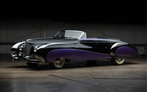 One of two postwar Cadillacs custom-bodied by French coachbuilder Saoutchik, this incredible 1948 Series 62 Cabriolet is headed to the auction block. It will be offered by RM Sotheby's at the 'Icons 2017' sale this December in New York.