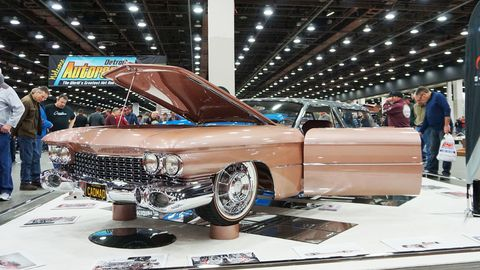 Built for the late Steve Barton, this radical 1959 Cadillac Eldorado Brougham has been transformed into a one-of-a-kind wagon. Jordan Quintal Sr. did the built; it's powered by a 1,025 twin-turbocharged V8 from Nelson Racing Engines. It claimed the coveted Ridler Award at the 2019 Detroit Autorama.