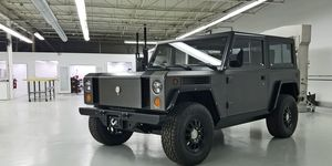 The Bollinger Motors B1 prototype. It's bigger in person than it looks in photographs -- and cooler.