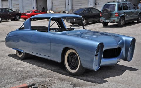 With just weeks to go before the Pebble Beach Concours d'Elegance, the Leo Lyons Mercury custom finally gets a coat of paint. Here's a look at the progress so far.