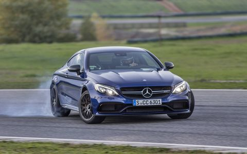 You can get as sideways as you want to in the C63 S Coupe.