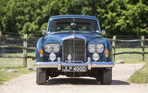 If this car could talk: A 1965 Bentley S3 Continental Flying Spur once owned by the Rolling Stones' Keith Richards will be auctioned at the Bonhams Goodwood Revival sale this September.