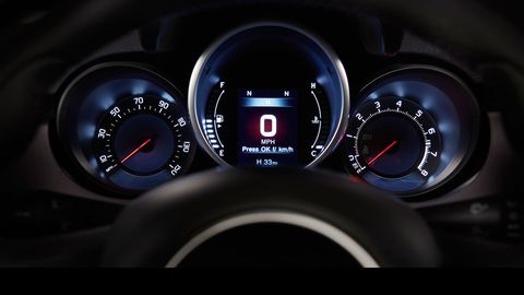 The 2018 Fiat 500X comes with a small but useful Uconnect screen.