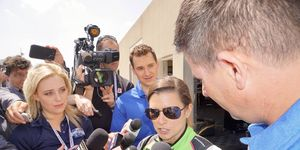 Danica Patrick faced the press following her second day of track activity in advance of the Indianapolis 500.