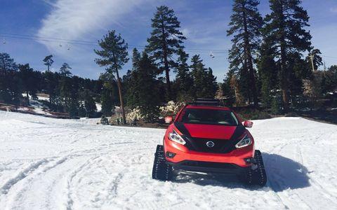 Here's the Murano we drove at Bear Mountain Ski Area in California.