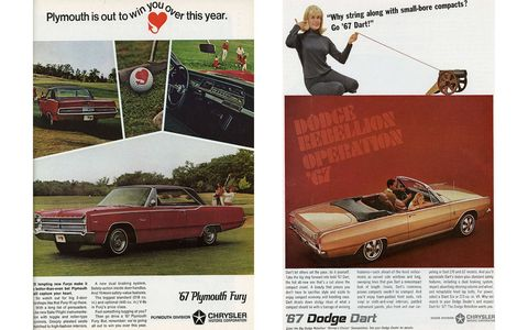For Chrysler shoppers, a Fury with a 440-cubic-inch V8 or a Dart with a 273-cubic-inch V8?