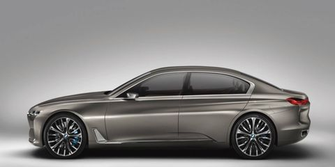 BMW debuted the Future Luxury Concept in 2014, previewing a large sedan with an exterior design that featured a number of elements from the i lineup.