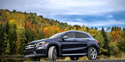 The GLA250 4Matic is on sale now, alongside the GLA45 AMG.