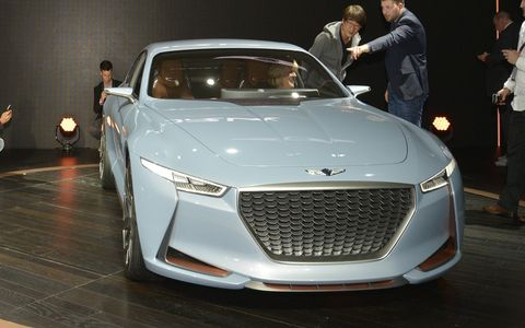 The New York Concept made its debut at the auto show of the same name, previewing one of the future additions to the new brand's lineup.