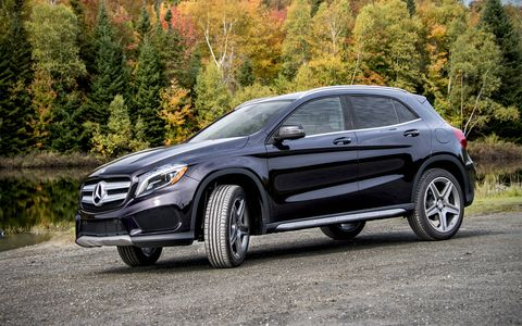 The GLA250 uses the engine from the CLA-class four door coupe, with which it shares a platform.