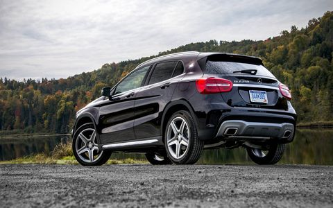 The GLA250 produces 208-hp and 258 lb-ft of torque.