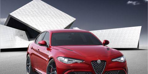 First images of the new Alfa Romeo Giulia sports sedan; the Quadrifoglio model packs 510 hp