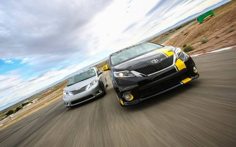 The Toyota R-Tuned SEMA Concept is the one on the right.