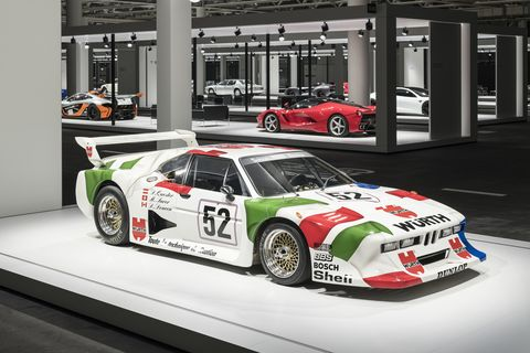 Grand Basel advisory board member Giorgetto Giugiaro was honored with a group of cars to celebrate his 80th birthday. Here is the BMW M1 R.