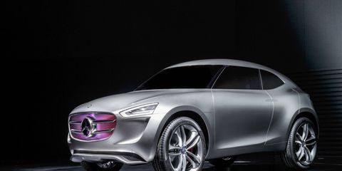 Mercedes-Benz revealed the G-Code concept at the opening of a new R&D center in Beijing.