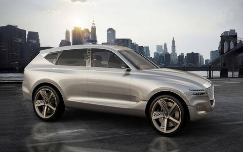 The Genesis GV80 Concept is a first look at the potential styling cues of Genesis' first production crossover, set to debut next year.