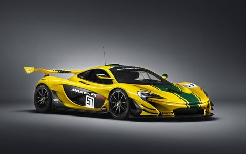 Tuning in development results in 10 percent more downforce than the McLaren P1™ road car