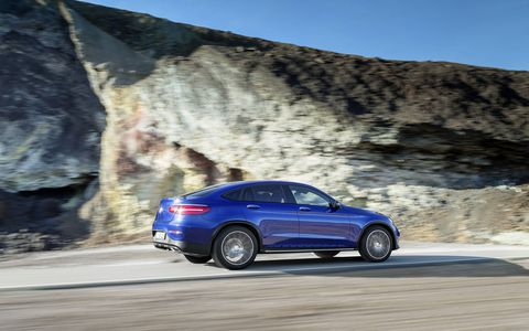 The 2017 Mercedes-Benz GLC300 and GLC300 4MATIC are powered by a 2.0-liter turbocharged four-cylinder engine producing 241 hp at 5,500 rpm and 273 lb-ft of torque from 1,300- 4,000 rpm.