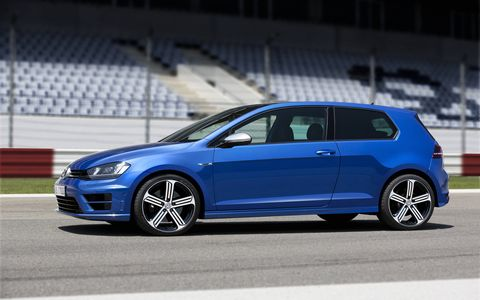 The Golf-R's 19-inch wheels will be available on the U.S. version.