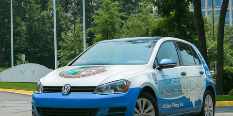 The Golf TDI covered 8,233.5 miles over 16 days.
