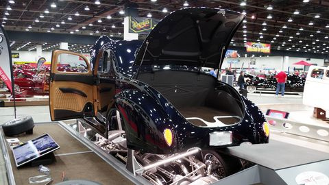 Built by Farrell Creations & Restorations, this stack-fuel-injected 1940 Ford Coupe sported enough interesting details to get it in the Great 8.