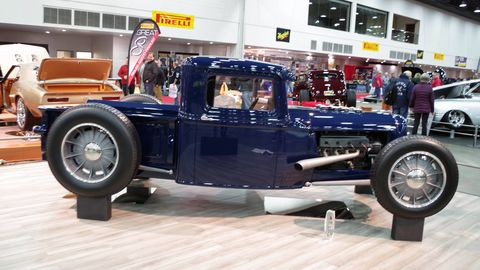 Built by Jason Graham, this 1934 Ford pickup is a fusion of traditional and modern styling and made it all the way to the Great 8 at the Detroit Autorama.