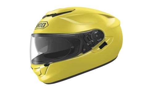 The Shoei GT-Air has vents you can open or close depending on the temperature of your noggin. There's also a nifty flip-down eye shade. $670.99