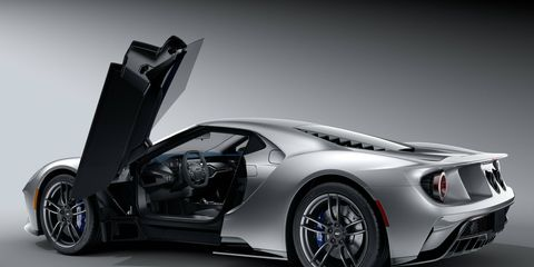 Check out the array of colors you can have the calipers painted in on the 2017 Ford GT.