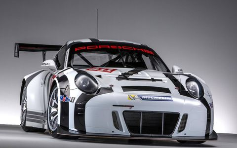 Porsche says its upcoming 911 GT3 R track car is lighter, faster and more economical to operate than its predecessors. We're not sure about that last part, but its 2,690-lb weight and 500-hp naturally aspirated 4.0-liter boxer six should keep it quick and light on its feet.
