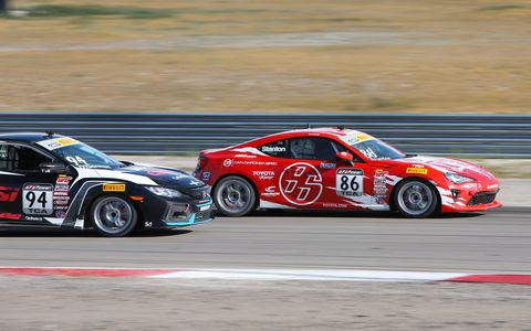 The Toyota 86 made its Pirelli World Challenge debut on Aug. 12 at the Utah Motorsports Campus.