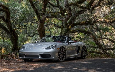 Only the front and rear decklids and the fabric top carry over on the new Porsche 718 Boxster.