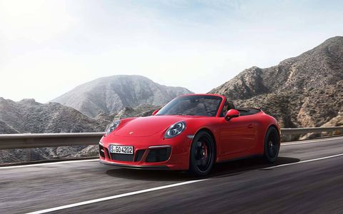 The new 2017 Porsche 911 GTS comes in coupe, cabriolet and targa flavors.
