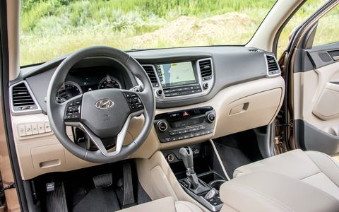 Ventilated seats are now an option in the Tucson, a segment-first.