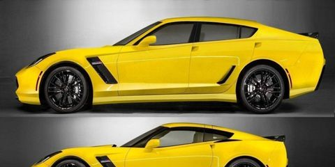 Corvette Forum user Internetguru posted this photoshopped picture of a Corvette. As you can guess, debate ensued.