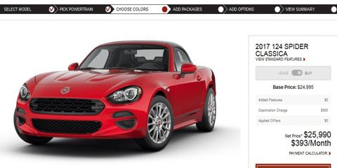 Fiat has announced pricing for the new Miata-based 124 Spider, just in time for spring.